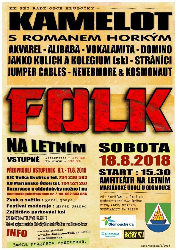 Plakát Folk Na Letním 2018