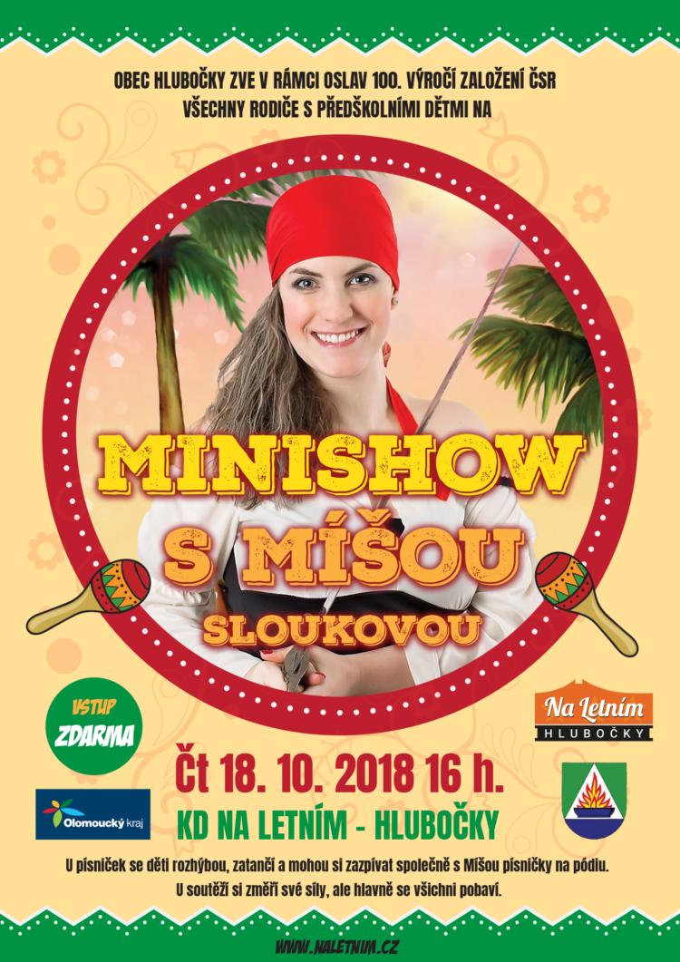 Plakát Minishow s Míšou Sloukovou