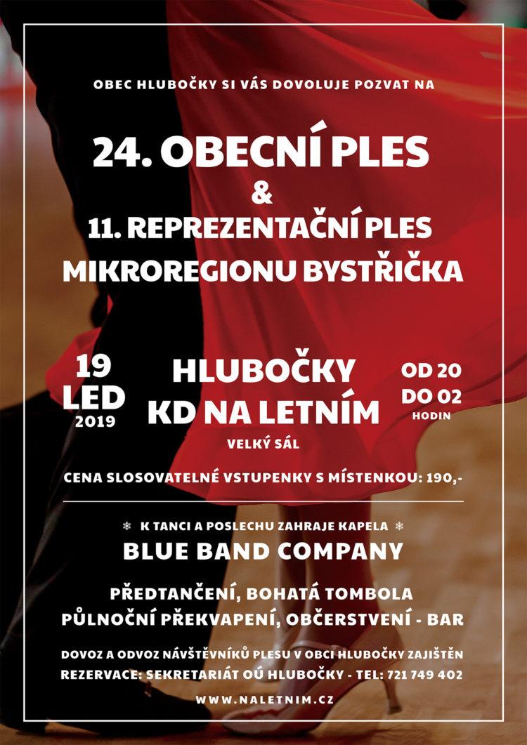 Plakát obecní ples Hlubočky