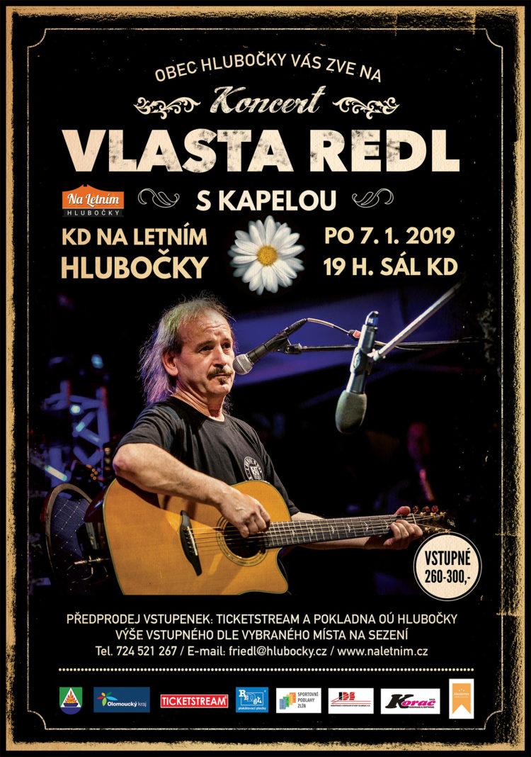 Plakát - Vlasta Redl s kapelou Tichá parta - Hlubočky