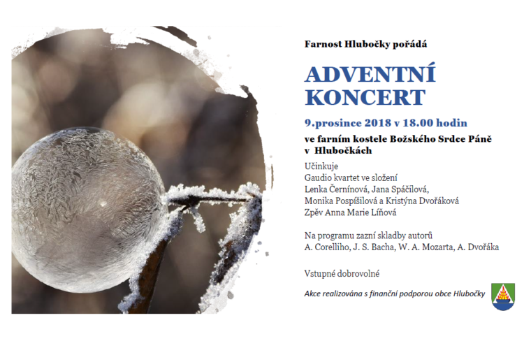 Adventní koncert 2018 - kostel Hlubočky