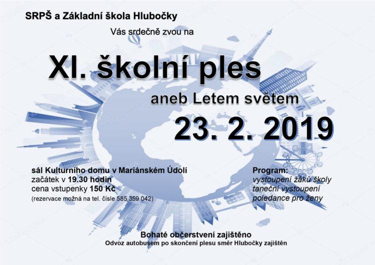Školní ples Hlubočky 2019