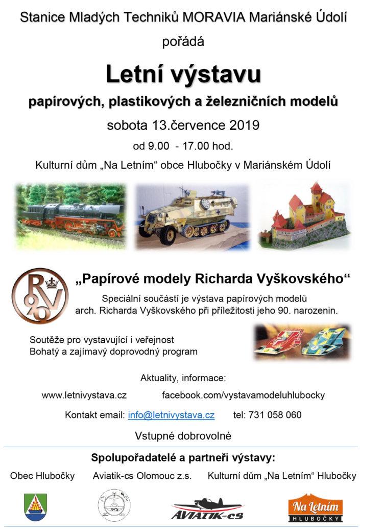 Výstava modelů - Hlubočky 13. 7. 2019