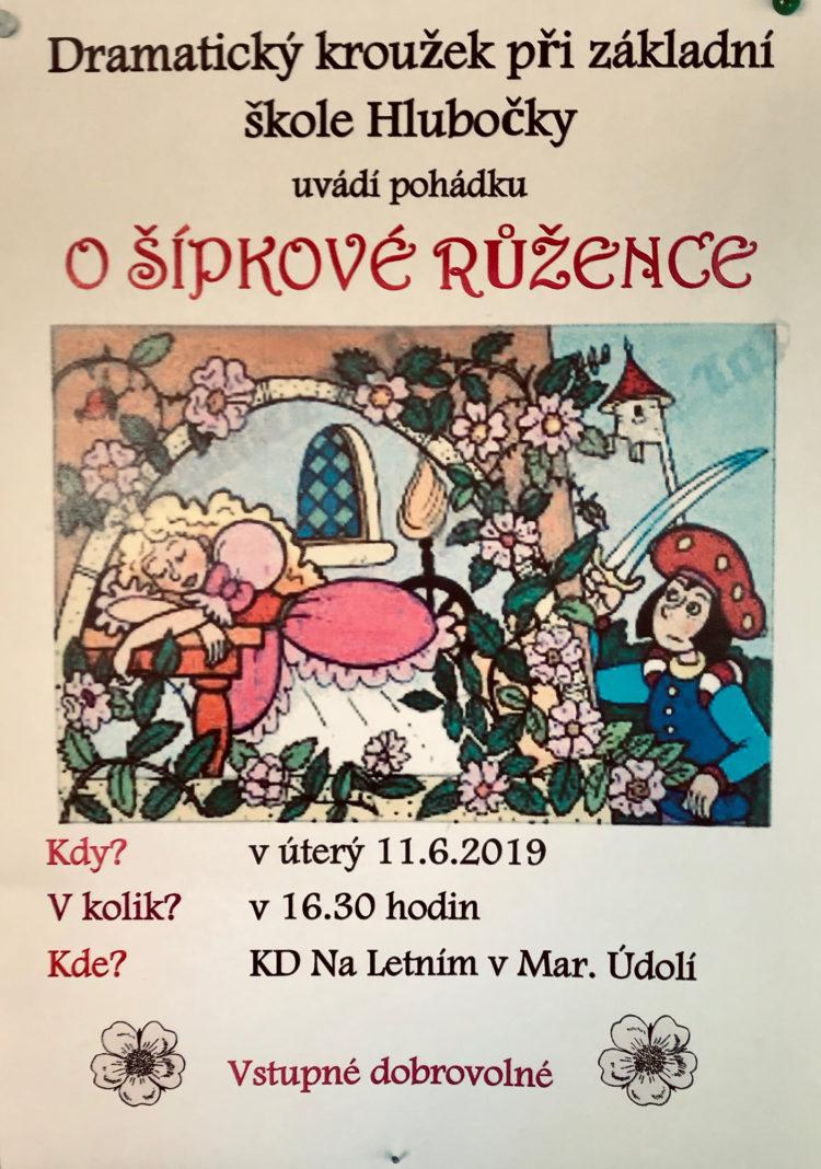 Pozvánka - O Šípkové Růžence - Hlubočky