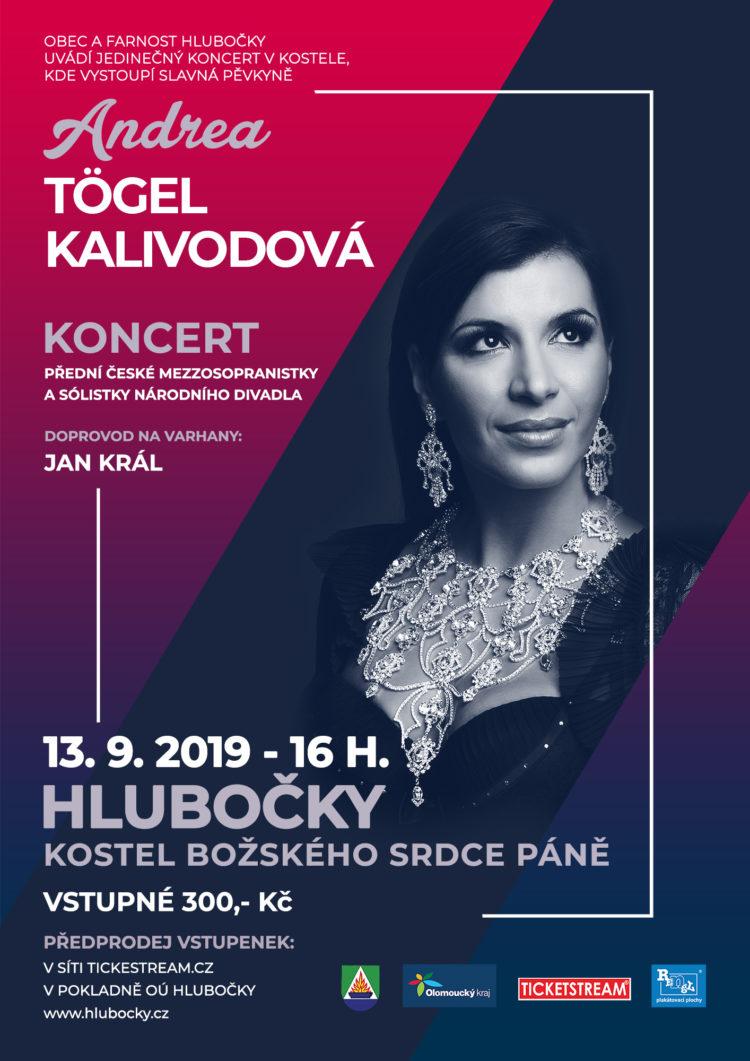 Andrea Kalivodová - koncert Hlubočky - kostel