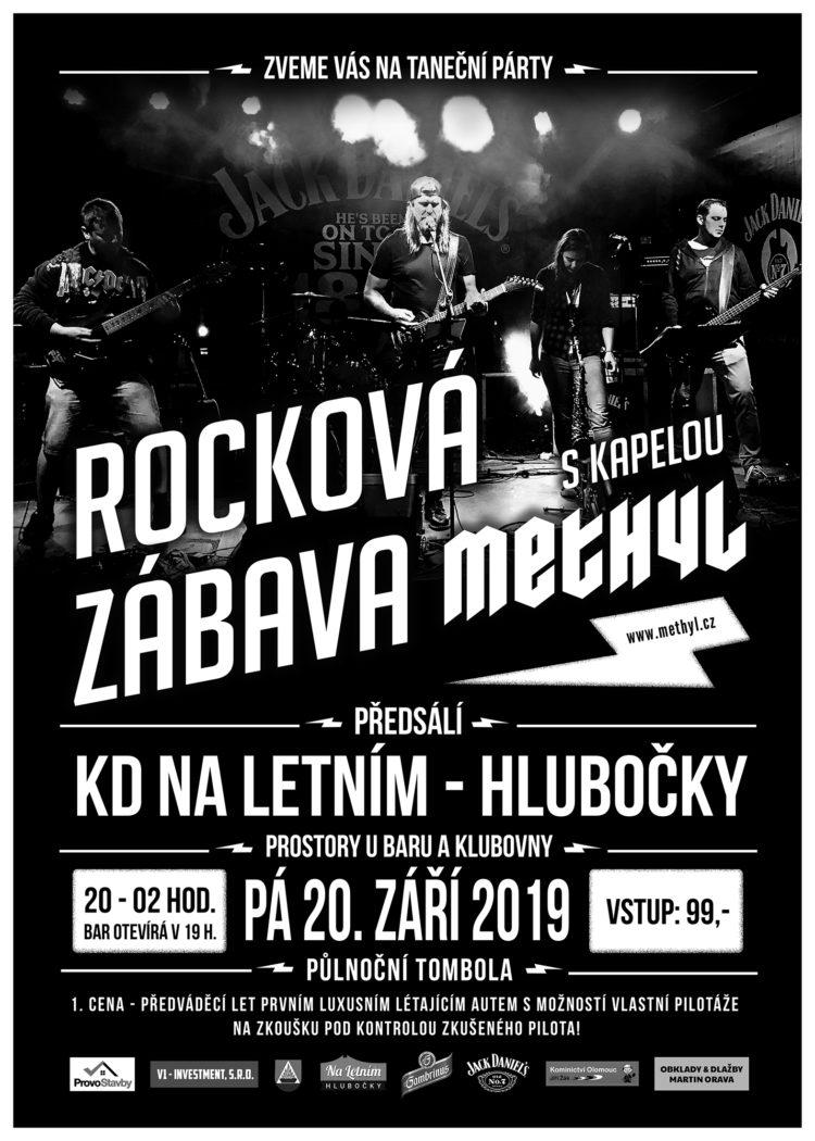 Rocková taneční zábava s kapelou Methyl - Hlubočky