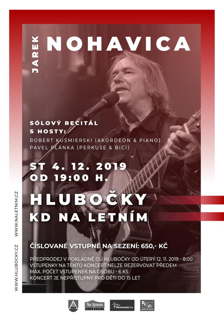 Plakát Jarek Nohavica - Hlubočky KD Na Letním