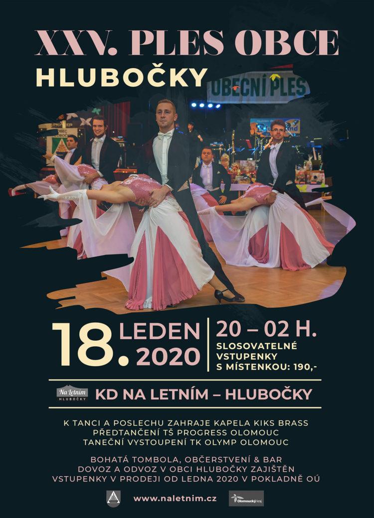 25. Ples obce Hlubočky (2020)